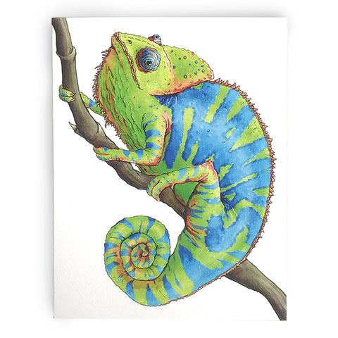 Chameleon Thank You Note