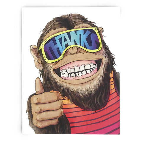 Chimpanzee Thank You Cards (All Occasion) - Box of 8