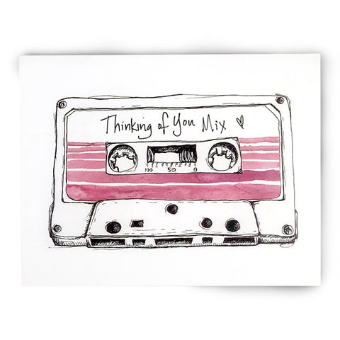 90s Thinking of You Cassette Card
