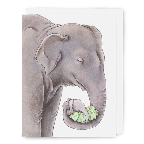Mama + Baby Elephant Card - Box of 8