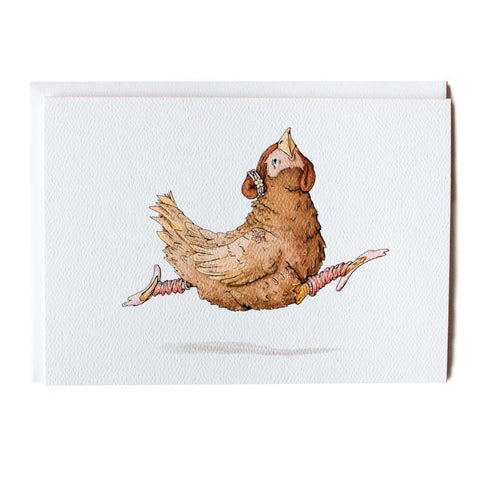 Ballet Chicken 5x7 Frameable Art Card