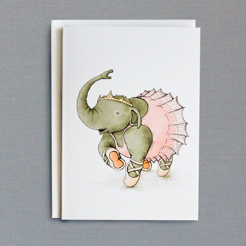 Ballet Elephant 5x7 Frameable Art Card