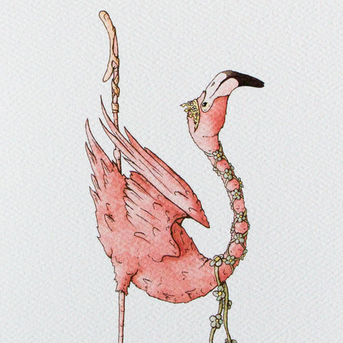 Ballet Flamingo 5x7 Frameable Art Card