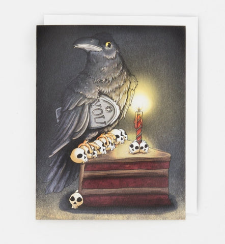 Black Crow Birthday Card - Box of 8