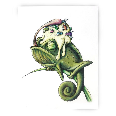 Chameleon Birthday Card