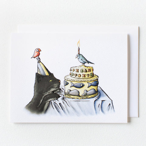Cat Birthday Card - Box of 8