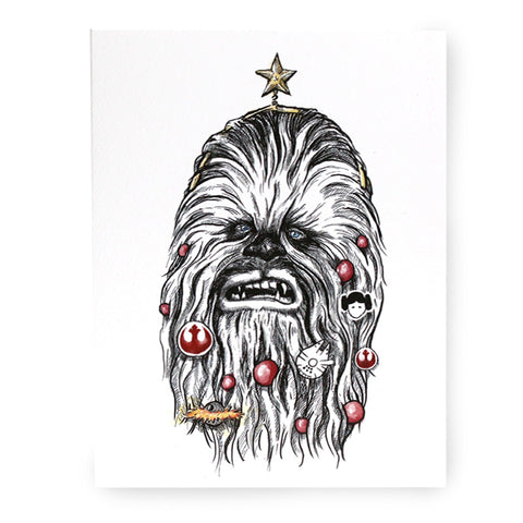 Christmas Chewbacca Card - Box of 8