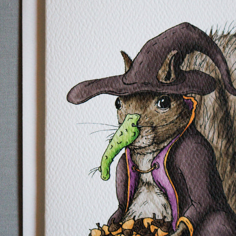 Halloween Squirrel Note Card