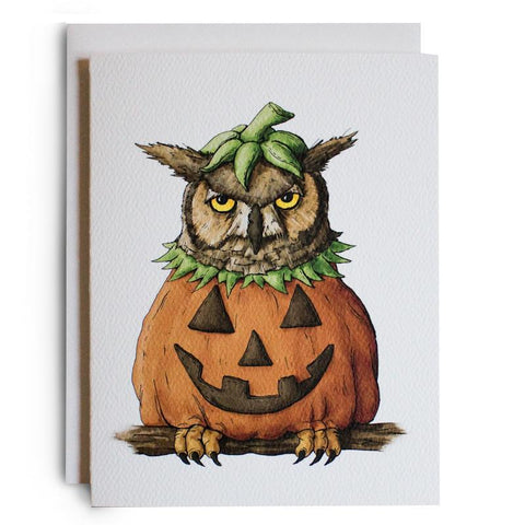 Halloween Owl Note Card - Box of 8