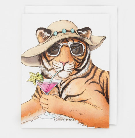 Tiger Happy Hour Card (All Occasion) - Box of 8