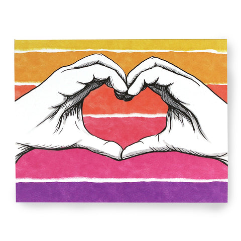 Love You Hands Card
