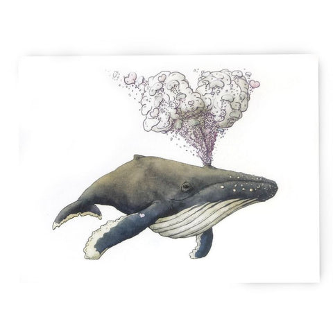 Whale LOVE Note Card