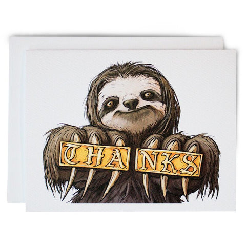 Sloth Thank You Notes - Box of 8