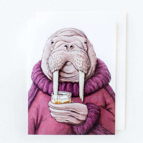 Walrus Happy Hour Card (All Occasion) - Box of 8