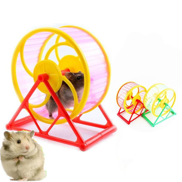 Pet Wheel Toy Play With holder Plastic Rodent Hamster Jogging Exercise useful training Toy Drop shipping