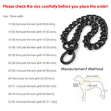 15mm Metal Dogs Training Choke Chain Collars for Large Dogs Pitbull Bulldog Strong Silver Gold Stainless Steel Slip Dog Collar