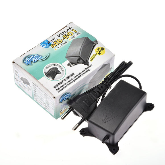 2W Noiseless Oxygen Increasing Pump Aquarium Oxygen Pump Fish Tank Oxygen Air Pump with EU Plug