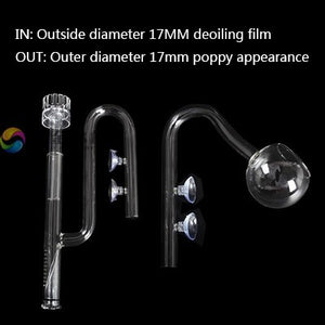 Glass pipe lily poppy peony spin surface skimmer inflow outflow 13mm 17mm aquarium water plant tank filter ADA quality mini nano