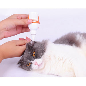 60 ml Pet Dogs Cats Ear Cleaner Effective Keep Ear Health Against Infection Caused by Bacteria Pet Stain Odor Removers