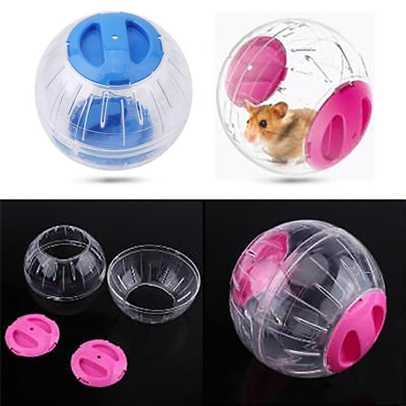 NEW TWO Color Running Ball For Home Pet Transparent Running Ball Plastic Grounder Jogging Pet Small Chinchilla Hamster Toy