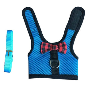 Rabbits Hamster lapin Vest Harness With Leash Bunny Mesh Chest Strap Harnesses Ferret Guinea Small Animals Pet Accessories