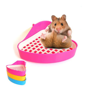 Hamster Toilet House Triangle Small Pet Hamster Bathroom Toilet Guinea Pig Rat Hamster House Pet Supplies Random Color