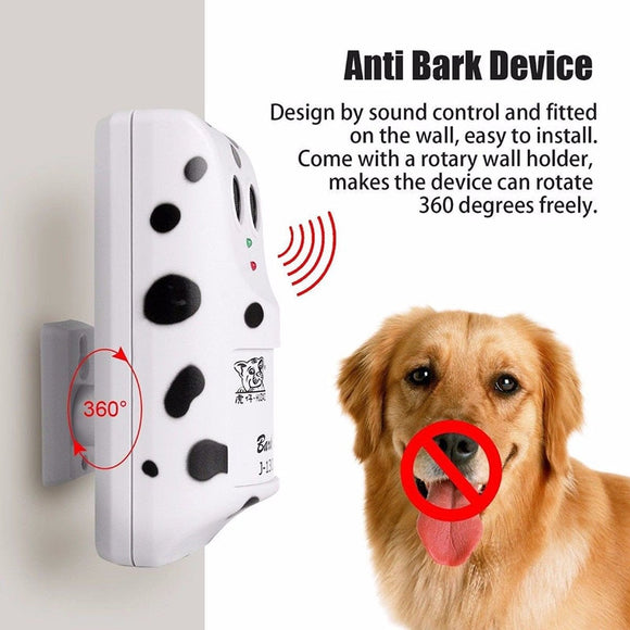 Ultrasonic Stop Control Dog Anti Barking No Bark Silencer Hanger Training Device E2S