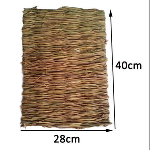 LumiParty None Animal Hamster Grass Chew Mat Breakers Toy Rabbit Rat Guinea Pig House Pad-25