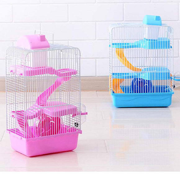 3-storey Pet Hamster Cage Luxury House Portable Mice Home Habitat Decoration