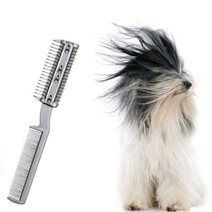 Dogs Cats Double-Headed Blade Hair Removal Comb Pet Cleaning Beauty Thinning Tool Puppy Hair Removal Brush Pet Grooming Tool
