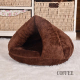 Pet Dog Cat Cave Igloo Bed Basket House Kitten Soft Cozy Indoor Cushion Kennel Warm Washable Nest