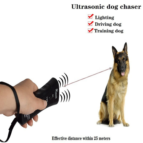 1Pc 13.5*5.7*3cm Ultrasonic Dog Chaser Stop Aggressive Animal Attacks Repeller Dog Training Device Flashlight Defense Supplies