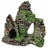 Ueful 1pc Creative Resin Rockery Aquarium Ornament Simulation Mountain Cave Fish Tank Landscape Decoration