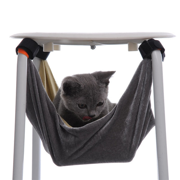 37*37&48*48cm S/M Cat Bed Pet Kitten Cat Hammock Removable Hanging Soft Bed Cages for Chair Kitty Rat Small Pets Swing