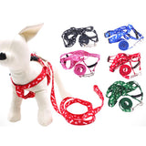 HOT SALE! Dog Cat Harness Collar Leash Fashion Bones Paws Print Safety Traction Rope Collars, Harnesses & Leads