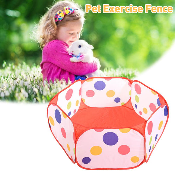 Small Animals Cage Tent Breathable Pet Playpen Pop Open Exercise Fence Portable Yard Fence for Guinea Pig Rabbits Hamster