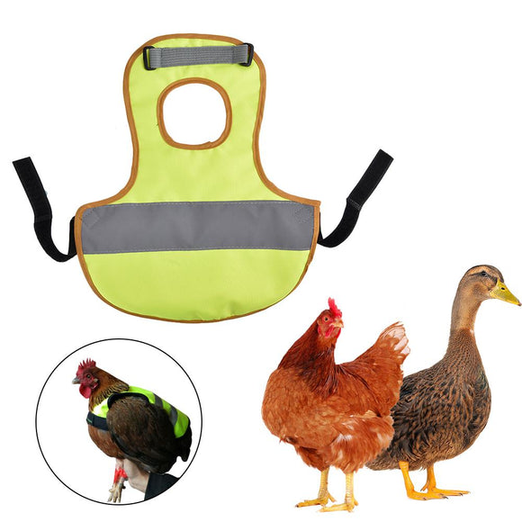 Pet Reflective Vest Chicken Clothes Poultry Hen Saddle Apron Feather Protection Holder For Chicken And Duck Quick Delivery