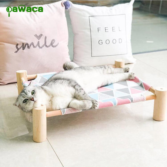 Summer Cool Cat Hammock Bed Four-legged Pet House For Dogs Puppy Lazy Mat Bearing 17.5kg Pet Bed Shelf Seat Beds Kitten Supplies