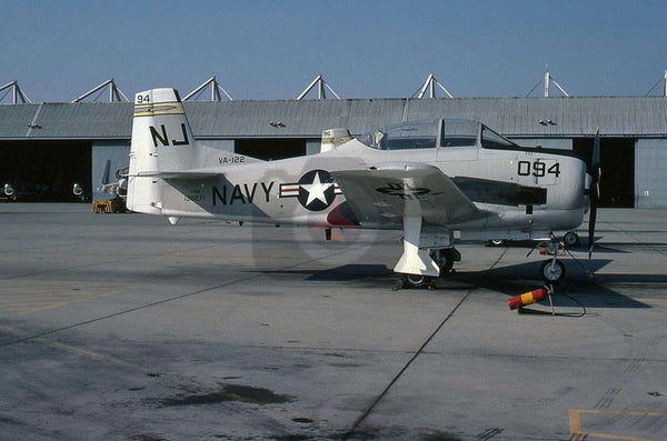 138271(NJ094) North American T-28B, USN(VA-122), Lemoore 1979