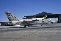 147048(AJ100) Chance-Vought F-8H, USN(VF-111), Miramar 1970, CAG Bird