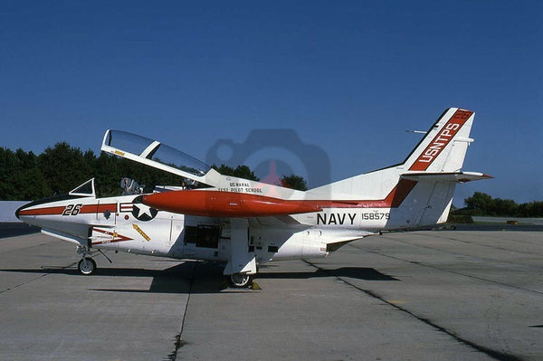 158579(26) North American T-2C, USNTPS, Patuxent River 1987