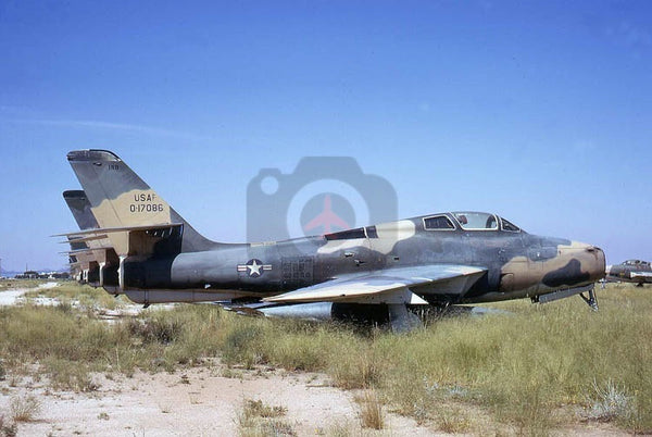 17086 Republic F-84F, Indiana ANG, Davis Monthan 1972