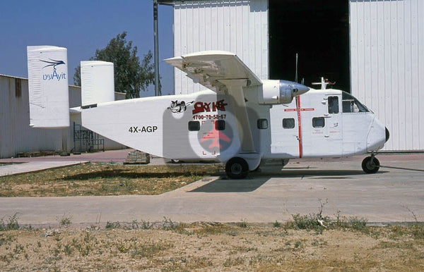 4X-AGP Shorts SC-7 Skyvan, AIT Aviation, Be'er Sheva 2018