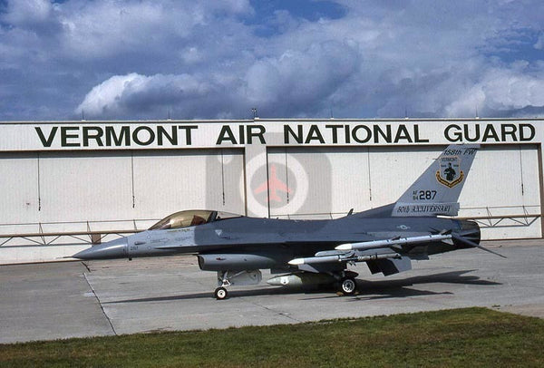 84-287 General Dynamics F-16C, Vermont ANG, 1996, special colours