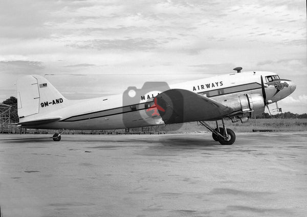 9M-AND Douglas DC-3, Malaysian Airways, Paya Lebar, 1965