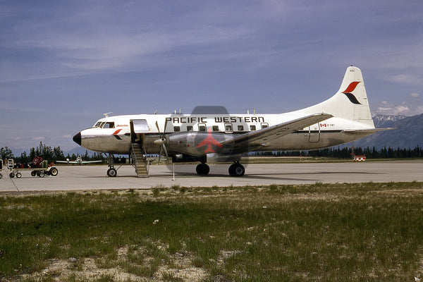 CF-PWT Convair CV640, Pacific Western Airlines