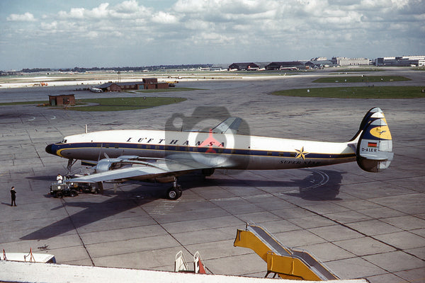 D-ALER Lockheed L-1649A Starliner, Lufthansa, Heathrow