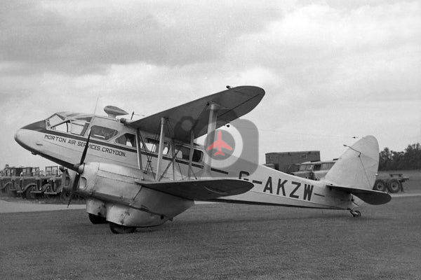 G-AKZW De Havilland DH89A Dragon Rapide,  Morton Air Services, Cambridge, 1951