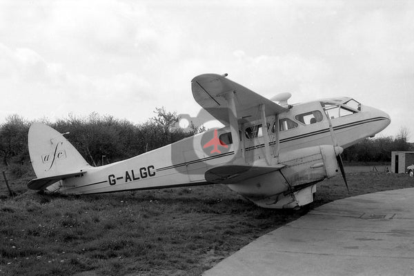 G-ALGC De Havilland DH89A Dragon Rapide,  Biggin Hill 1964