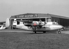 G-AMGW Miles Marathon, Derby Airways, Burnaston, 1956